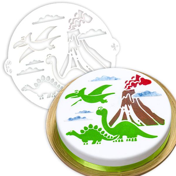 """Tortenschablone """"Dinosaurier"""", Ø 25cm"""