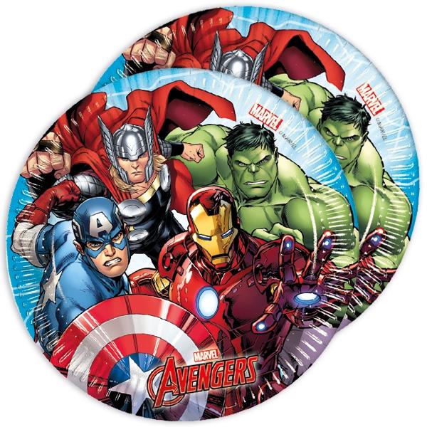 Avengers Partyteller im 8er Pack, Ø 19,5cm