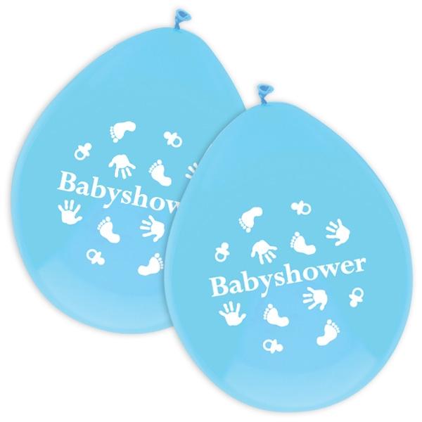 Baby Boy Ballons für Baby Shower Party Jungs, 6 Stück, in Blau, Latex