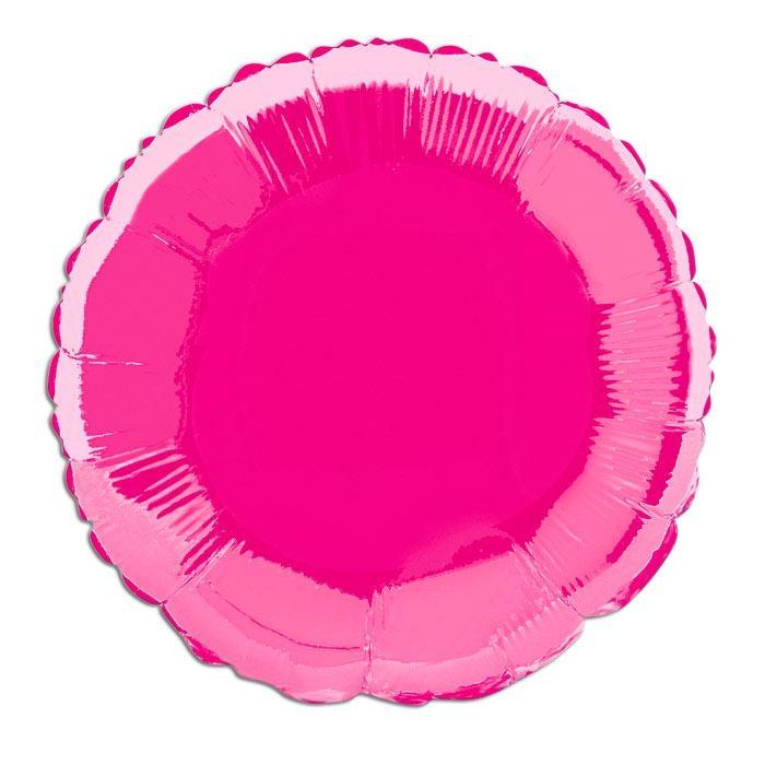Folienballon rund in Pink, auch mit Heliumfüllung lieferbar, 35 cm