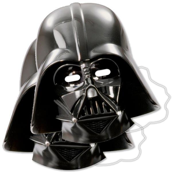 Darth Vader Partymasken, 6 Stück, eindrucksvolle Masken aus Pappe