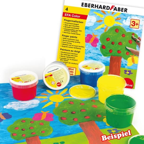 Fingerfarbe 4er Set, 400ml