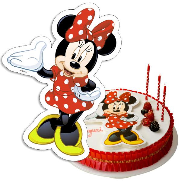 Minnie Oblaten-Aufleger, 20x30cm, 1 Minnie Mouse-Figur aus Esspapier