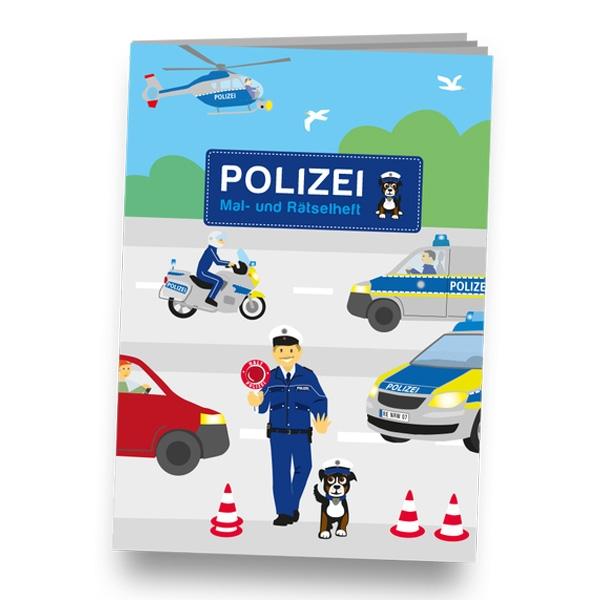 """Mal-und Rätselheft """"Polizei"""", DIN A6"""
