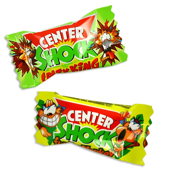 1 Center Shock Jungle Mix, extra saurer Kaugummi mit flüssiger Füllung