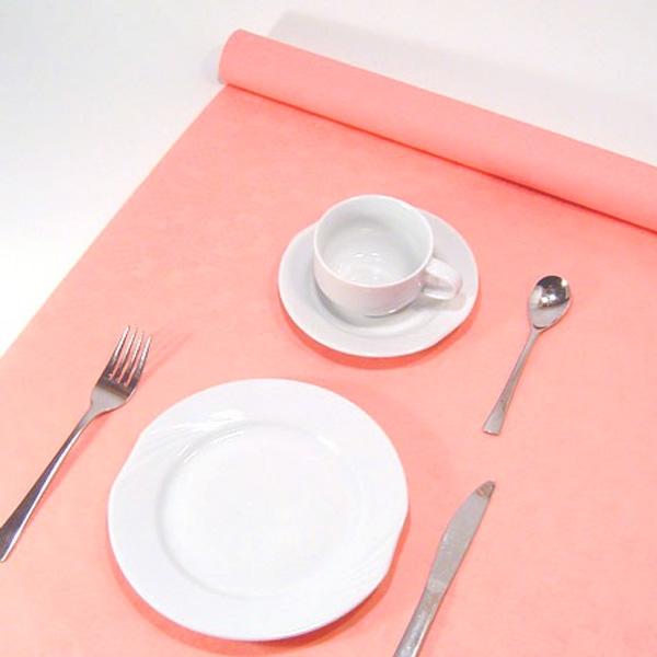 Rosa Tischdecke auf Rolle 8 × 1,2 m, Geburtstagstischdecke im Damastdesign