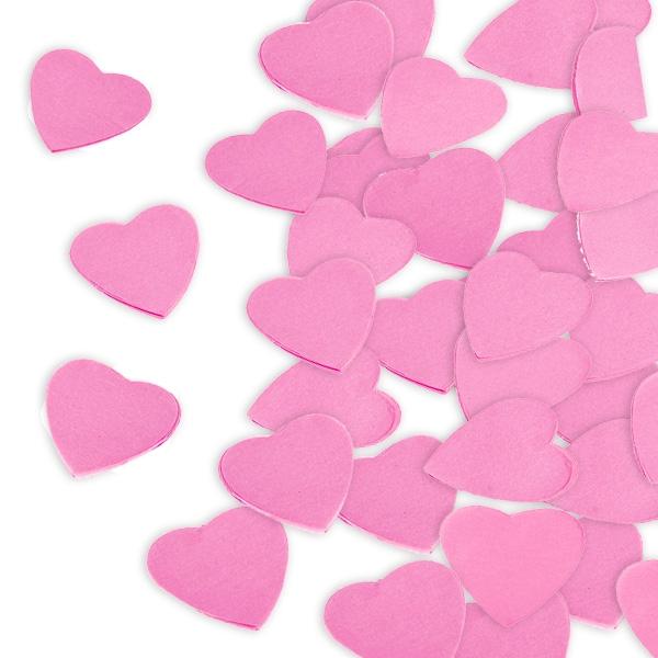 Motivkonfetti als rosa Herzen für Hochzeit / Valentinstag, 300g, 6cm