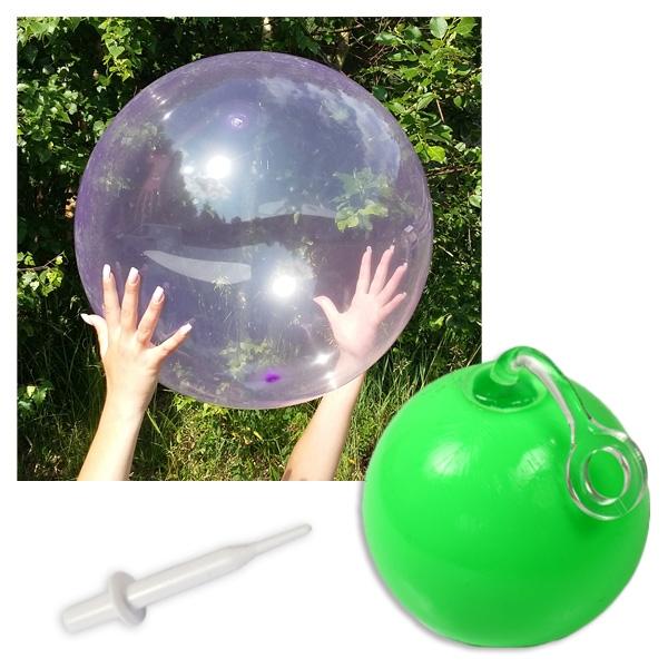"""""""Bubble"""" Spielball, aufblasbar 50 cm, selbstverschließend, mit Aufblashilfe"""