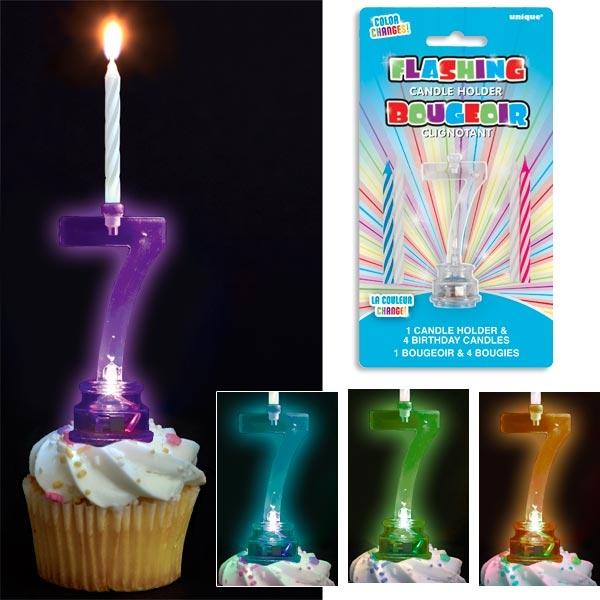 Kerzenhalter als 7 für Torten und Muffins + 4 Kerzen