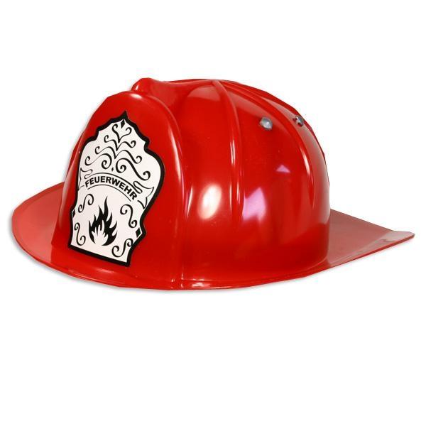 Feuerwehrhelm Umfang 47-55cm, 1Stück, stabil, für Feuerwehrmann-Faschingskostüm