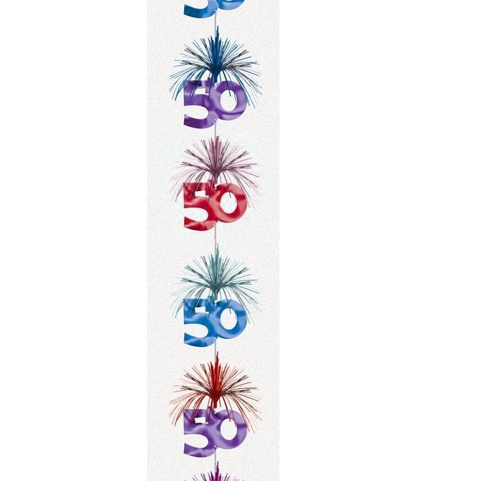 Hängedekoration 50.Geburtstag, Partydeko zum 50sten Jubiläum, Deko runder Geburtstag