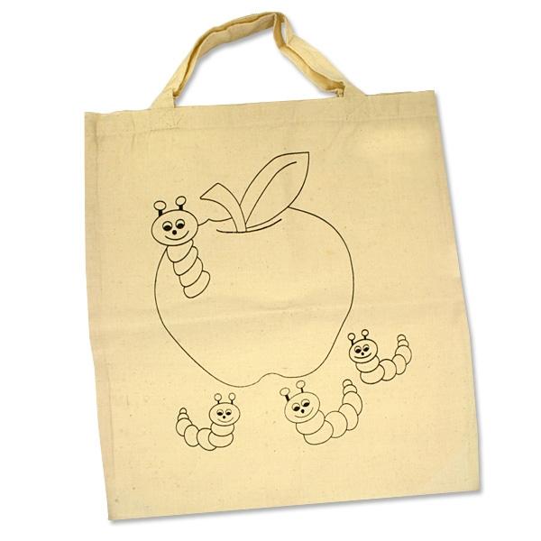 Baumwoll-Tasche mit Motiv, zum Bemalen, 38cm x 42cm, beige