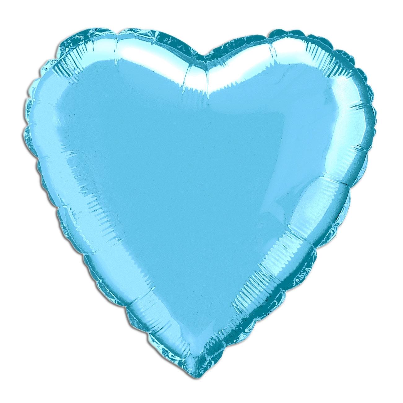 Folienballon als Herz blau, 35 cm