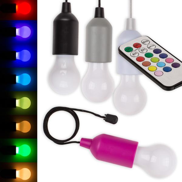 LED-Glühbirne mit Farbwechsel und Fernbedienung, 1 Stück