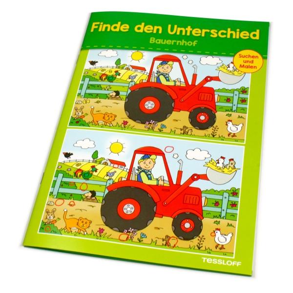 Finde den Unterschied - Bauernhof Suchbilder zum ausmalen