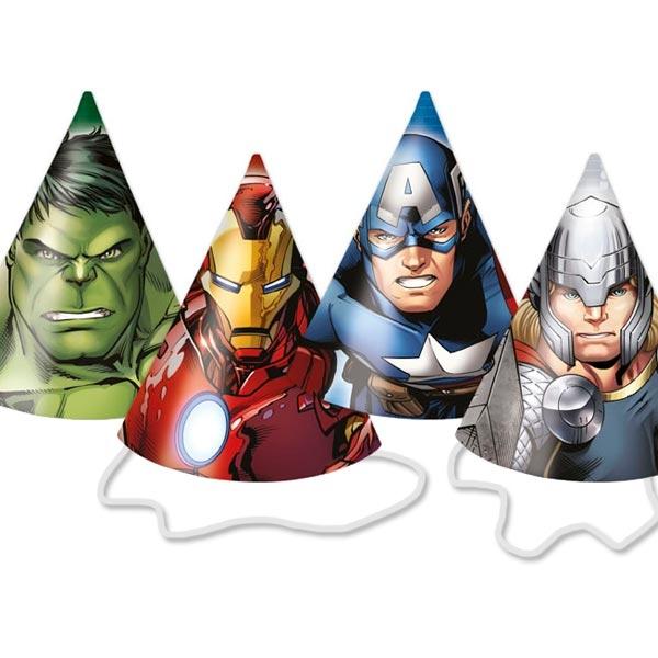 The Avengers - Partyhütchen, 6er Pck, mit Gummibändchen