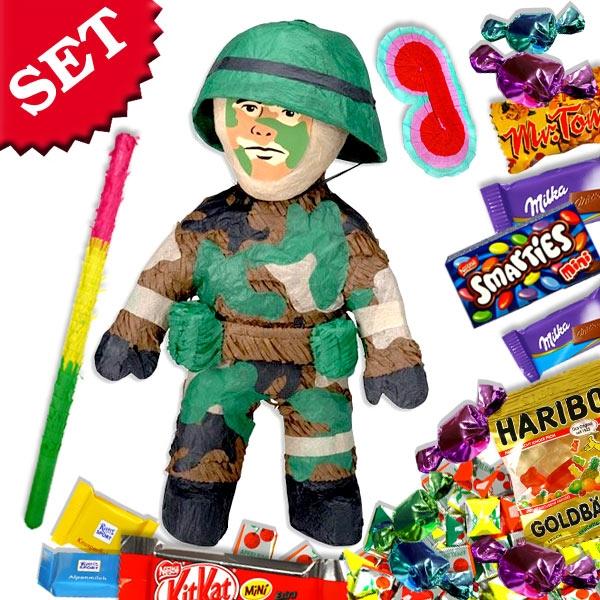 Pinata Set Soldat +Süßigkeiten