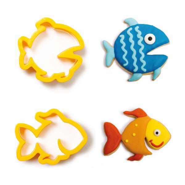 """Ausstechformen """"Fische"""" im 2er Set, aus Kunststoff"""