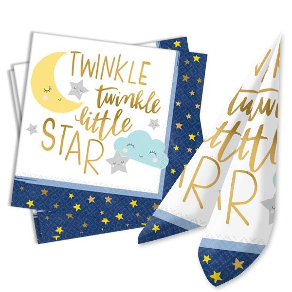 Twinkle - Little Star Servietten, 16 Stk, 33cm, Babyparty