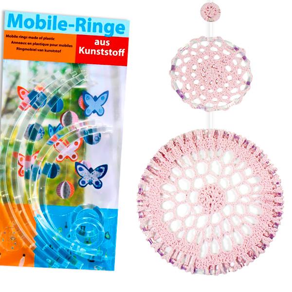 2 Mobile-Ringe, transparent, zum Stecken, Durchm. 12cm und 20cm, für Traumfänger