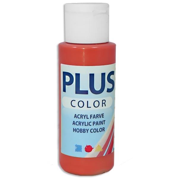 Bastelfarbe Plus Color Brillantrot, 60 ml, sehr gute Deckkraft