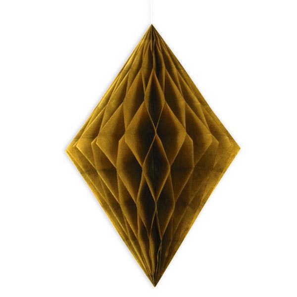 Waben-Hängedeko, gold, 35,5cm