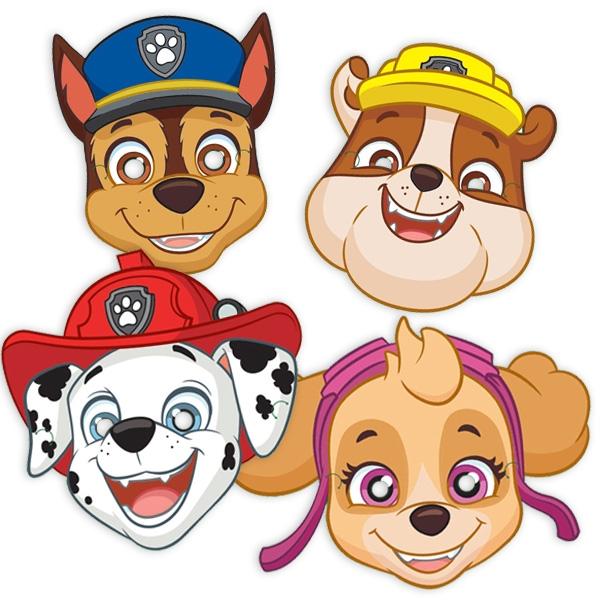 Paw Patrol Masken, 8er Pack Hunde-Partymasken für Mottoparty Kinder
