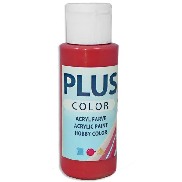 Bastelfarbe Plus Color Pur Pur-Rot, 60 ml, sehr gute Deckkraft