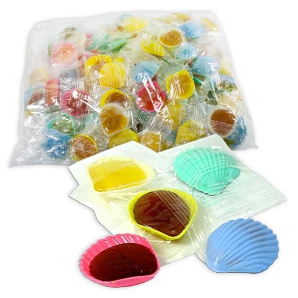 100 süße Schleckmuscheln, je 10g, verschiedene Farben, schön fruchtig