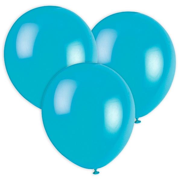 Türkise Luftballons, 30cm, 10 Stück