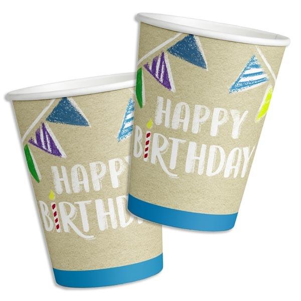 """""""My Happy Birthday"""" Partybecher 8 Stk, Vol. 250ml"""