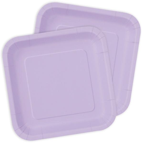 Kuchenteller quadratisch in lavendel, 16 St.