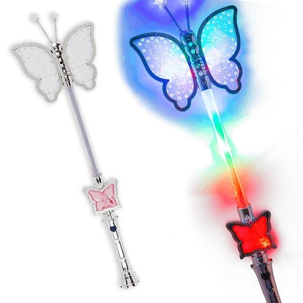 "Blinkender LED-Stab ""Schmetterling"", 1 Stk."