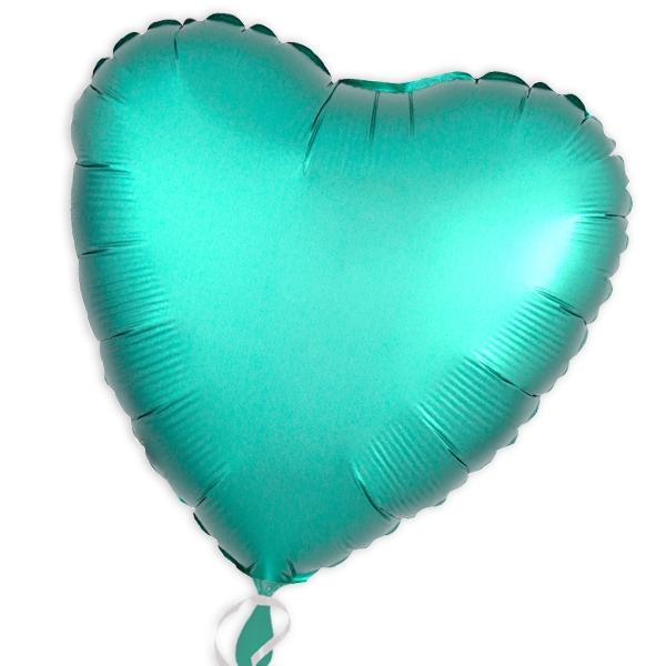 Folienballon als Herz Jadegrün 34 cm