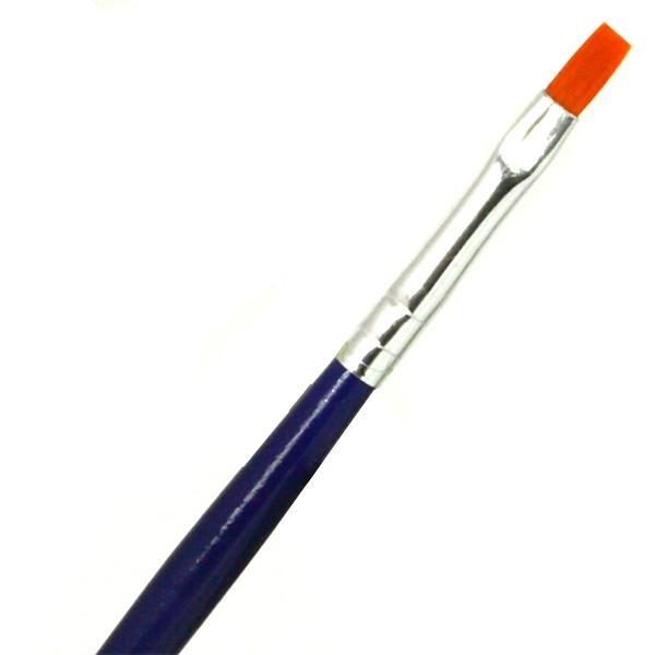 Flachpinsel Grösse 4, ein Kunstfaser-Malpinsel als Malzubehör für Kinder