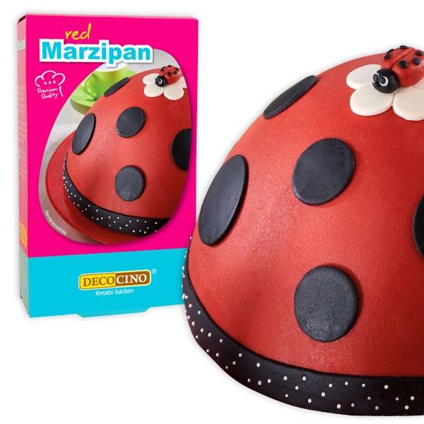 Decor Marzipan, rot, 200g, zum Modellieren und Überziehen