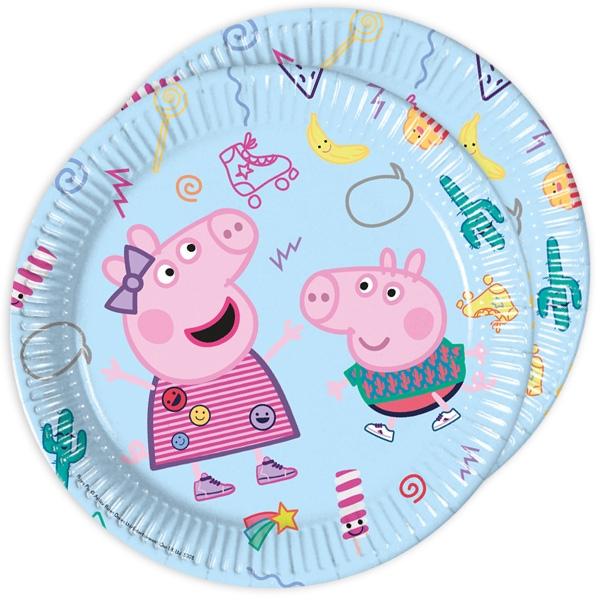 Peppa Pig Partyteller, 8er Pck, Ø 23cm