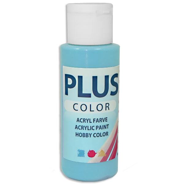 Bastelfarbe Plus Color Eisblau, 60 ml, äußerst gute Deckkraft