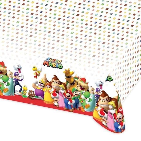 Super Mario Tischdecke 1,2×1,8m, Partytischdecke für Kinder, Folie