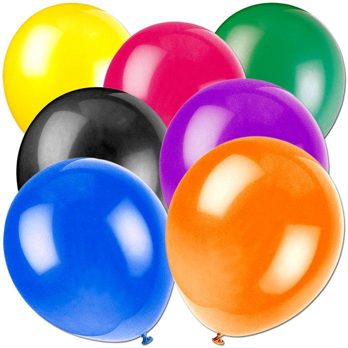 Latex-Ballons CRYSTAL, mehrfarbig sortiert, Helium Qualität, 50 Stück