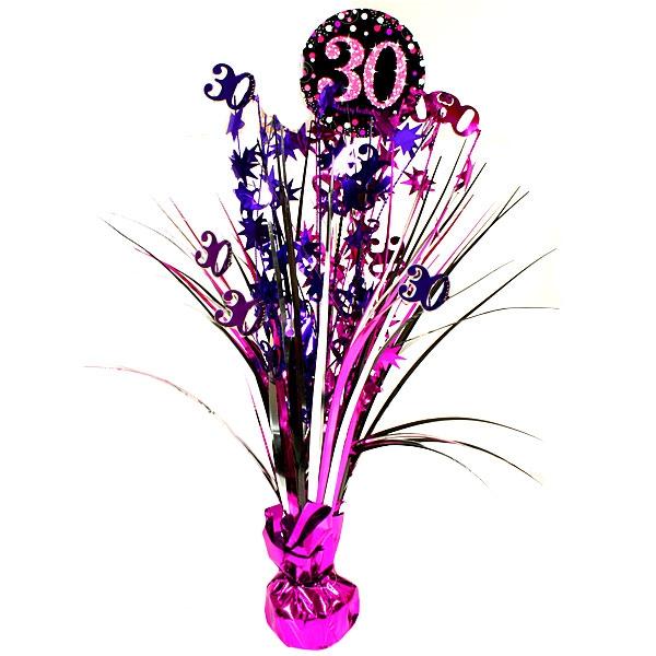 Sparkling Celebr. Tischkaskade 30. Geburtstag, pink, 46cm