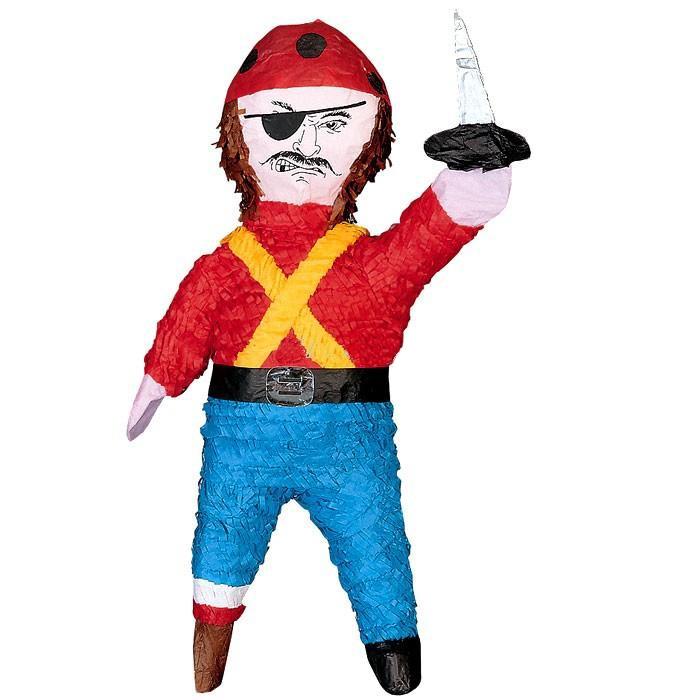 Partypinata Pirat zum Schlagen, der Piratenparty-Spaß, 56,5cm x 34cm