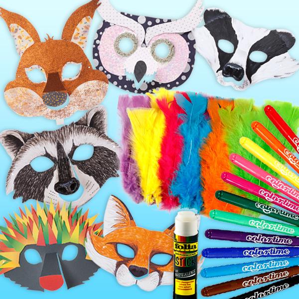 """Bastelset """"Waldtier-Masken"""",  für 6 Kids"""