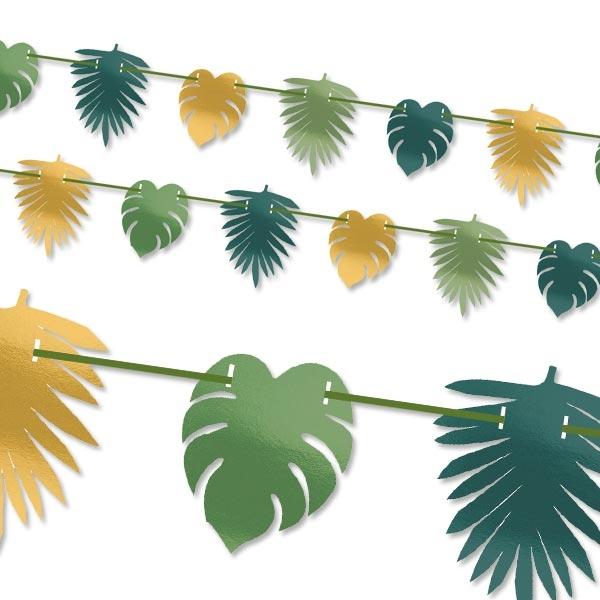 Tropical Summer Motiv Girlande, 1 Stk, 3,65m, metallic