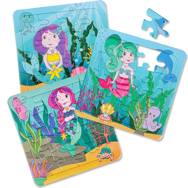 Meerjungfrauen Puzzle, 1 Stk, 13,8cm, Kinderpuzzle