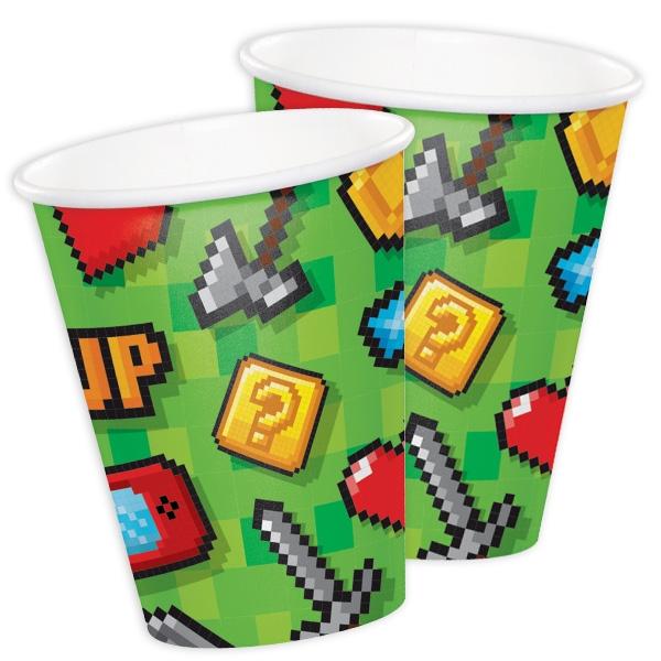 """Game On"", Partybecher, 8 Stück, Pappe"