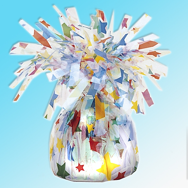 Ballongewicht Sterne, Folie, 14 cm, sehr dekorativ, mit Schlaufe