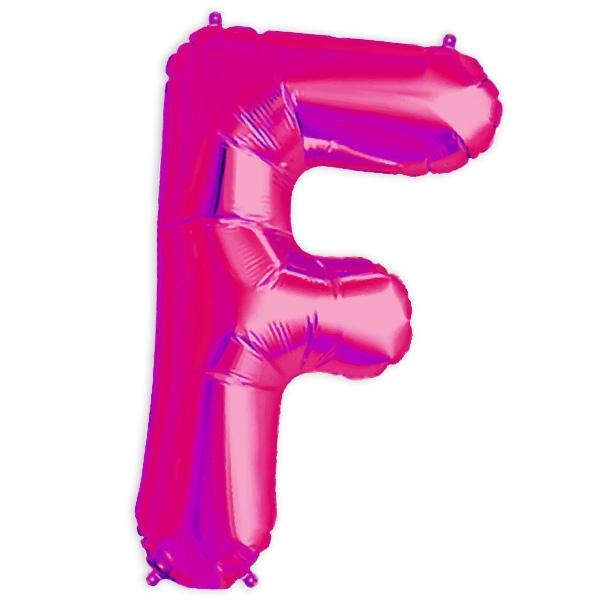 Folienballon Buchstabe F für Sprüche und Namen in Ihrer Partydeko, 41cm