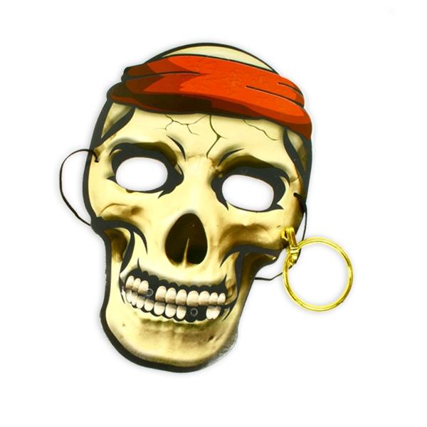 Piratenmaske mit Ohrring aus Pappe, Kindermaske Piratenparty/Fasching