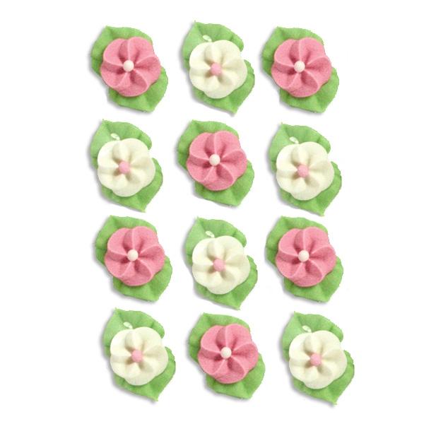 Zuckerblümchen aus Zuckermasse für Tortendeko, Zuckerfiguren für Kuchendeko